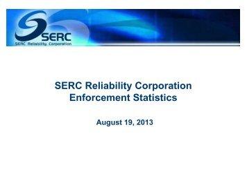 SERC Compliance Statistics - SERC Home Page