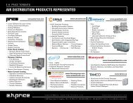 AIR DISTRIBUTION PRODUCTS REPRESENTED - EH Price Toronto