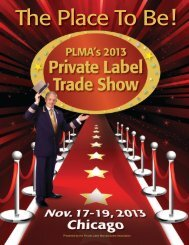 Presented by the Private Label Manufacturers Association - PLMA