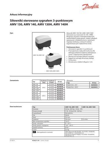 Siłowniki sterowane sygnałem 3-punktowym AMV 130 ... - Danfoss