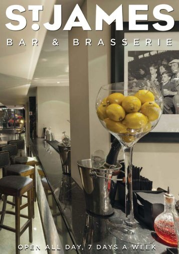 Bar and Brasserie Menu - St James Theatre