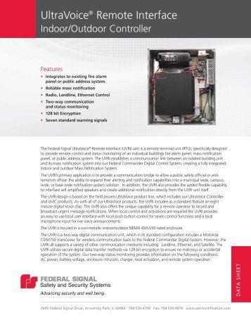 27 Frutiger Light UltraVoice® Remote Interface - Federal Signal