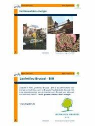 Leefmilieu Brussel - BIM - APERe