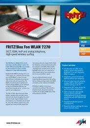 FRITZ!Box Fon WLAN 7270 Www - Phone Master