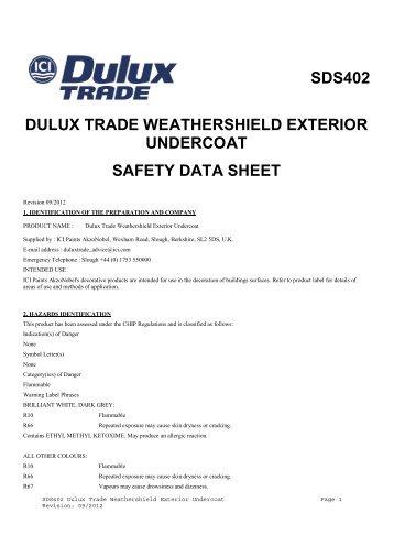 Sds402 Dulux Trade Weathershield Exterior Undercoat ...   Duluxtrade.ie