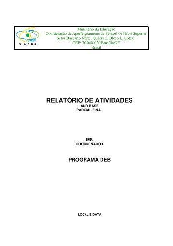 RELATÓRIO DE ATIVIDADES - Fernando Santiago dos Santos