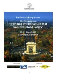 'Providing Infrastructure that Improves Road Safety' - IRF ...