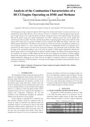 Analysis of the Combustion Characteristics of a HCCI Engine ...