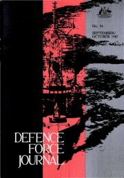 ISSUE 54 : Sep/Oct - 1985 - Australian Defence Force Journal