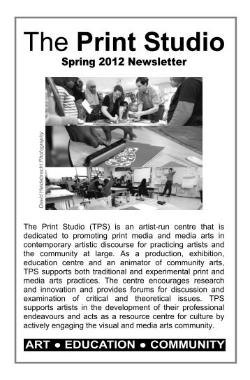 Spring Newsletter 2012 online.pub - The Print Studio