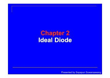 Chapter 2 Ideal Diode
