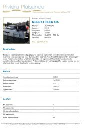MERRY FISHER 855 - Riviera Plaisance