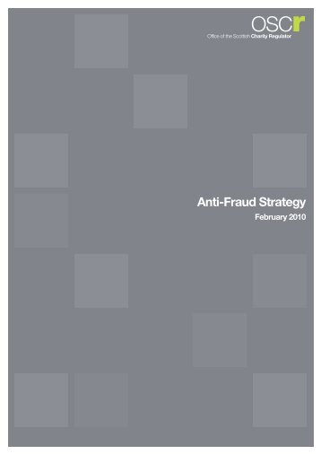 Anti-Fraud Strategy - Office of the Scottish Charity Regulator