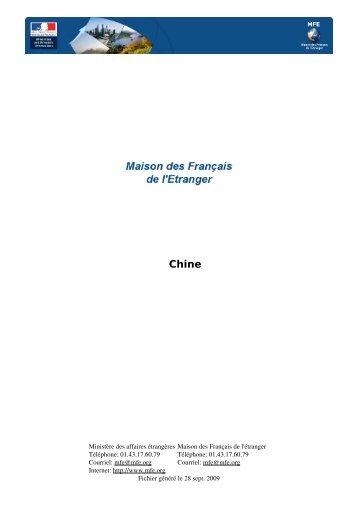 Les Dossiers Pays de la MFE: Chine - ESC Rennes Alumni