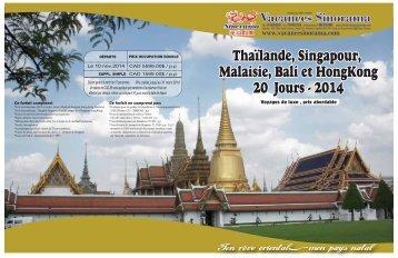 Thaïlande, Singapour, Malaisie, Bali et HongKong 20 Jours - 2014 ...