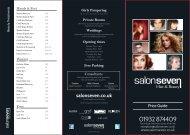 Salon Seven Hair & Beauty Price List
