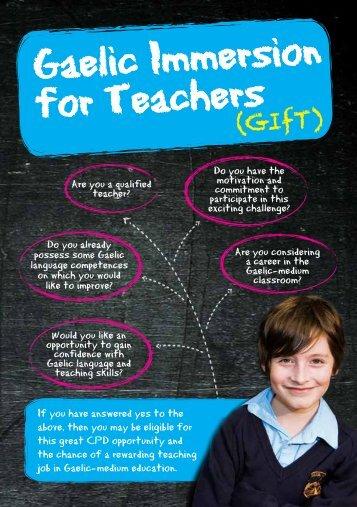 Gaelic Immersion for Teachers