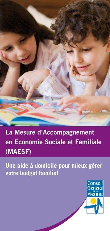 La mesure d'accompagnement en économie sociale et familiale