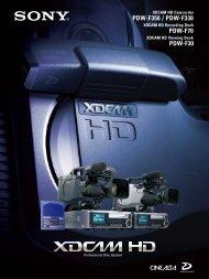 PDW-F350 / PDW-F330 PDW-F70 PDW-F30 - que Video