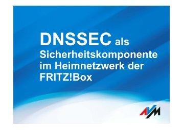 DNSSEC als Sicherheitskomponente im Heimnetzwerk der FRITZ!Box