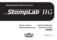 StompLab IIG Owner's manual - Korg