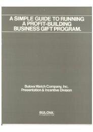 Bulova Watch Company, Inc.