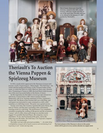 Theriault's To Auction the Vienna Puppen & Spielzeug Museum
