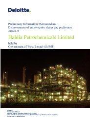 Preliminary Information Memorandum (PIM) - West Bengal Industrial ...