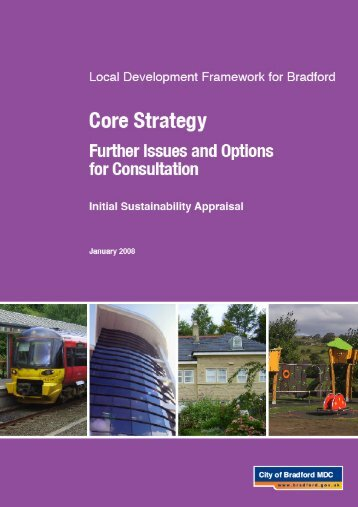 Initial Sustainability Appraisal - Bradford Metropolitan District Council