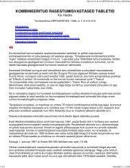 Kombineeritud rasestumisvastased tabletid. - Perearstikeskus.ee
