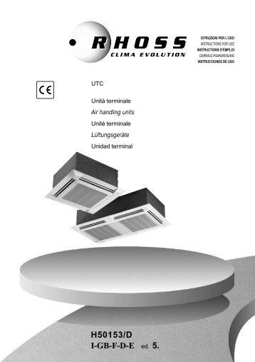 H50153-v05 Manuale Istruzioni UTC - Rhoss