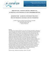 ARQUITETURA - ENSINO E PRÁTICA PROJETUAL: AS ...