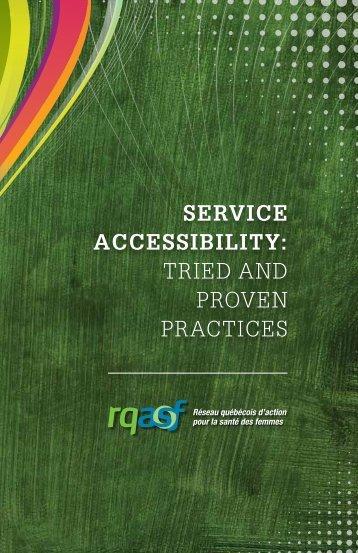 Service AcceSSibility - Réseau québécois d'action pour la santé des ...