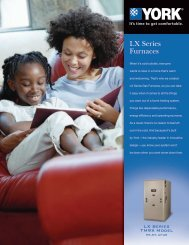 York LX Series Gas Furnace - Mendon Heating & Cooling