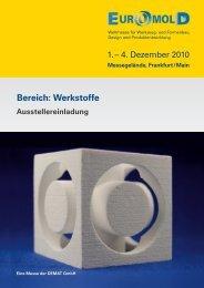 EuroMold | Ausstellereinladung - Bereich Werkstoffe | 2010-06-22