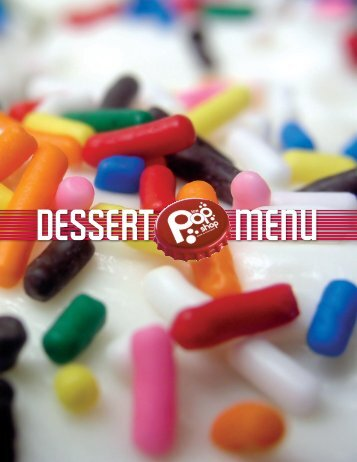 dessert Menu - The Pop Shop