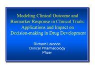Modeling Clinical Outcome and Biomarker Response in Clinical ...