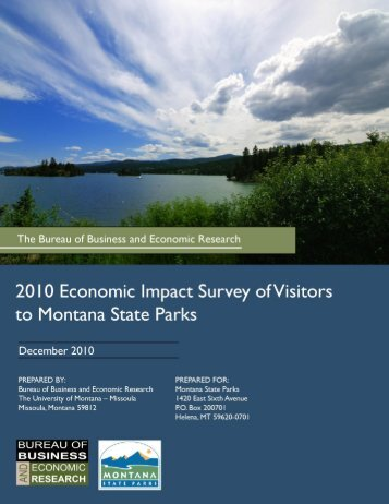 2010 Economic Impact Survey of Visitors to Montana State Parks