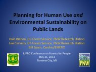 Planning For Human Use and Environmental Sustainability on ...