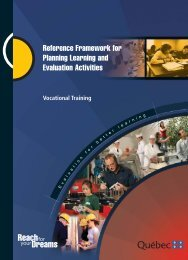 Reference Framework for Planning Learning and Evaluation Activities