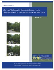 A Review of the Recreation Opportunity Spectrum and its Potential ...