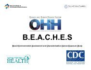 The BEACHES Study: Health Effects and Exposures from Non-point ...