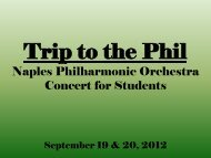 Trip to the Phil - Philharmonic Center for the Arts