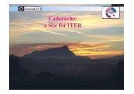 Cadarache: a Site for ITER - CEA