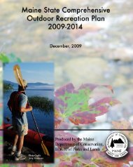 Maine SCORP - Society of Outdoor Recreation Professionals