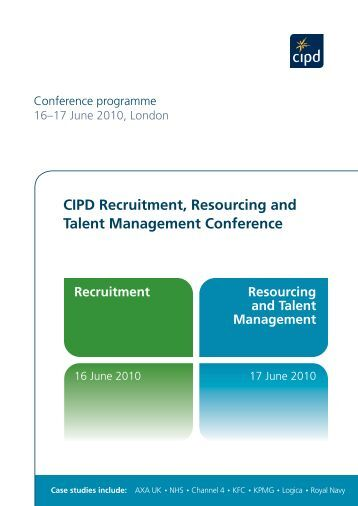 cipd resourcing talent Join the cipd fast track to learn practical measures and gain strategic insights to tackle today's most pressing business  resourcing and talent management.