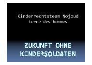 Zukunft ohne Kindersoldaten - Kinderrechts-Team Nojoud