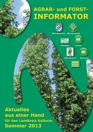 Sommer 2013 - Amt für Ernährung, Landwirtschaft und Forsten ...