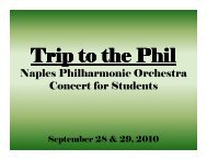 Naples Philharmonic Orchestra Concert for Students