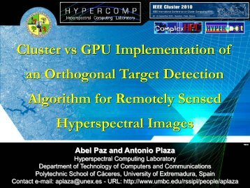 Cluster vs GPU Implementation of an Orthogonal ... - Cluster 2010